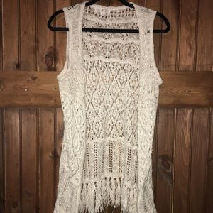 Sweaters - Open front sweater tank
